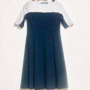 Lauren Ralph Lauren Navy White Color Block Dress 8